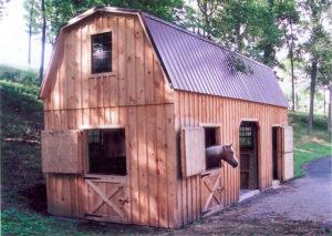 12x32 2 Story Stall Barn