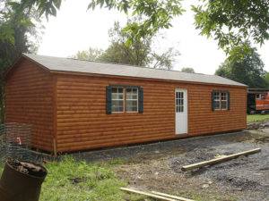 12x40 Log A Frame Shed