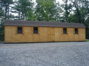 12x40 Log Dutch Barn Shed
