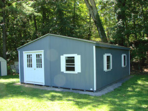 20x20 LP Double Wide Shed