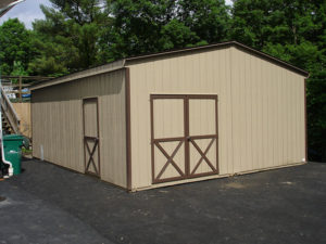 20x20 LP Floorless Double Wide Shed
