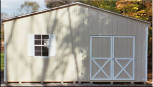 20x24 LP Double Wide Shed