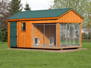 8x16 Board Batten Traditional Double Kennel