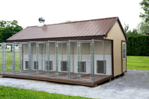 8x22 Metal Siding 6 Box Kennel