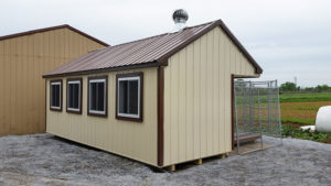 8x22 Metal Siding 6 Box Kennel Back