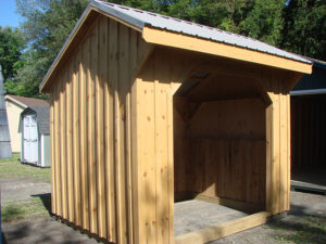 8x8 Run In Shed