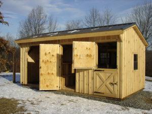 Custom 10x20 Stall Goat Shed