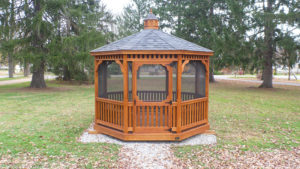 10' Octagon Classic Gazebo With Screens