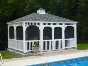 12'X16' Vinyl Rectangle Classic Gazebo