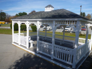 12'x24' Vinyl Rectangle Classic Gazebo With Benches