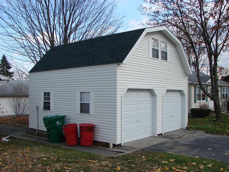 2 story 2 car garages the barn raiser for 20x24 garage kit
