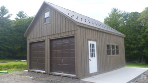 24x24 2 Story Board Batten A Frame Garage