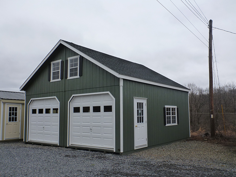 2 story 2 car garages the barn raiser for Double story garage
