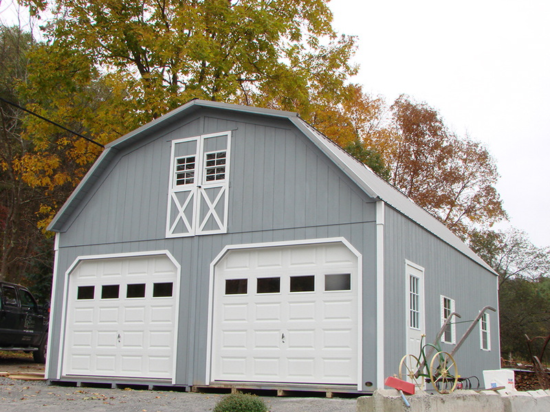 2 story 2 car garages the barn raiser for Garage 24x30