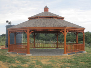32' Octagon Victorian PT Wood Gazebo