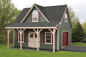 18x22 Two- Story Duratemp Boston- Windsor w/ Optional Porch