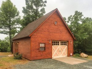 22x28 One- Story A-Frame w/ Log Siding