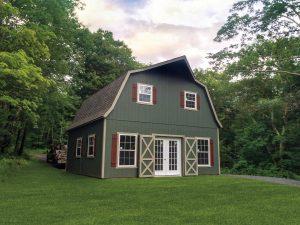 24x24 Two- Story Dutch Barn Duratemp Siding