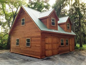 24x24 Two- Story Cedar Jefferson w/ Optional Metal Roof
